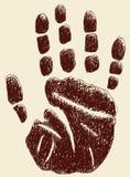 Handprint royalty-vrije illustratie