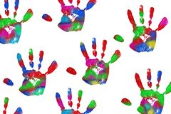Handprint Royalty Free Stock Photos