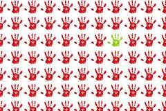 Handprint illustration stock