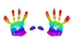 Handprint Stockbild