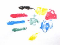 Handprint. Hand print, in several colors stock illustration