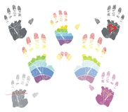HANDPRINT. Color handprint, avalable in vector Stock Photo