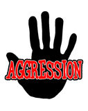 Handprint aggression stock illustration