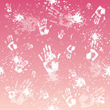 Handprint background Stock Photo