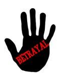 Handprint betrayal Stock Photo