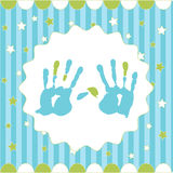 Handprint of boy Stock Photos