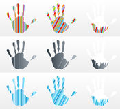 Handprint collection Royalty Free Stock Photos