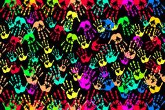 Handprint. Color of art with handprint Stock Photos