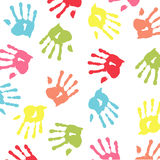 Handprint colorido Imágenes de archivo libres de regalías