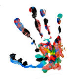 Handprint de Brown Imagem de Stock Royalty Free