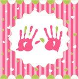 Handprint de la muchacha Fotografía de archivo