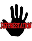 Handprint deforestation Stock Image