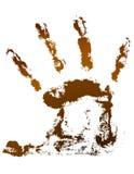 Handprint del cioccolato Fotografia Stock