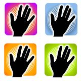 Handprint Fingerprint Indentification Royalty Free Stock Images