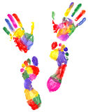 Handprint and footprint Royalty Free Stock Photo