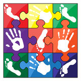 Handprint footprint Royalty Free Stock Photography