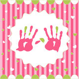 Handprint of girl Stock Photography