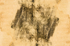 Handprint on grunge paper Stock Photo