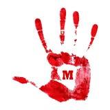 Handprint México da aquarela Imagem de Stock Royalty Free