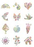 Handprint malował kształty - Zdjęcie Royalty Free