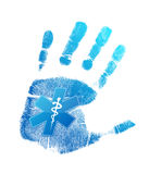 Handprint medical symbol illustration design Royalty Free Stock Photography