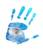 Handprint and message bubbles illustration Royalty Free Stock Image
