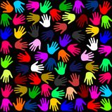 Handprint Muster Lizenzfreies Stockbild