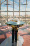 Handprint of President Nazarbayev in the golden triangle inside Bayterek Stock Photo