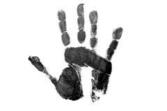 Handprint preto Imagens de Stock