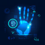 Handprint Scan Royalty Free Stock Photography