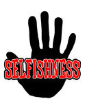 Handprint selfishness Royalty Free Stock Photography