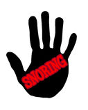 Handprint snoring Stock Images