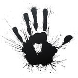 Handprint splatter blow Stock Photos