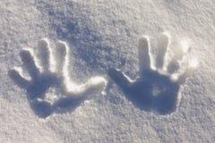 Handprint  track Royalty Free Stock Photos