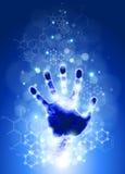 Handprint und chemische Formeln Lizenzfreie Stockfotografie