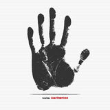 Handprint. Vector illustration of handprint for your design Stock Photos