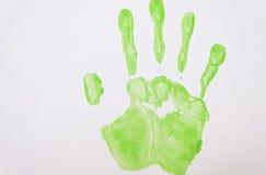 Handprint vert clair Photographie stock libre de droits