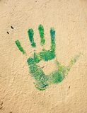 Handprint on the wall Royalty Free Stock Image