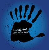 Handprint With Seven Fingers Royalty Free Stock Photo