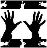 handprints向量 免版税库存照片