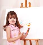 handprints开玩笑做油漆 图库摄影