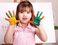 handprints开玩笑做油漆 库存图片