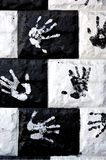 Handprints на стене Стоковые Фотографии RF