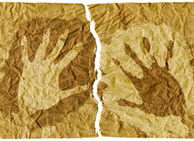 Handprints Royalty Free Stock Photography