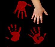 handprints Стоковая Фотография