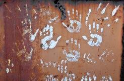 Handprints stock afbeeldingen
