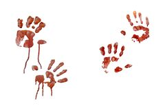 handprints 4 Royalty Free Stock Image