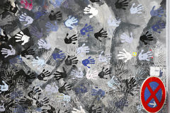 Handprints 免版税库存照片