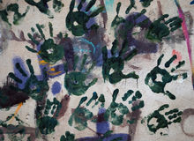Handprints Photo stock