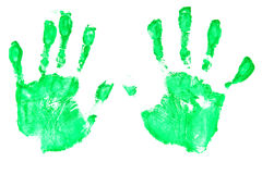 Handprints Stock Photo